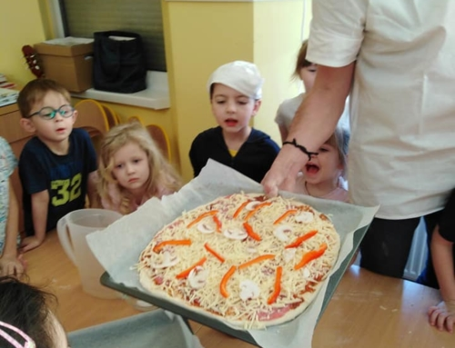Pieczenie pizzy z P. Tomkiem :)